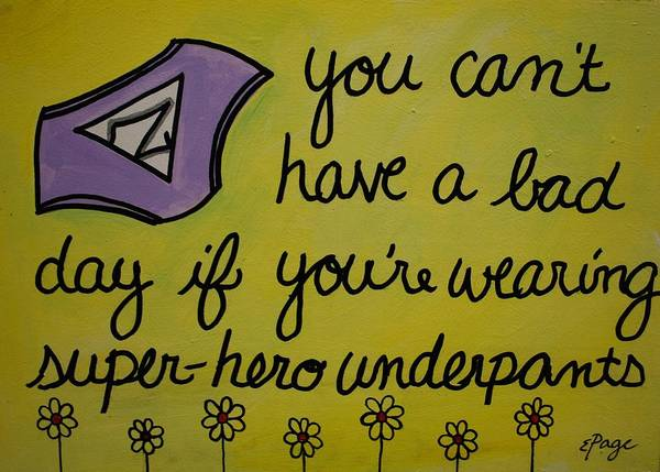 Painting - Super-hero Underpants by Emily Page