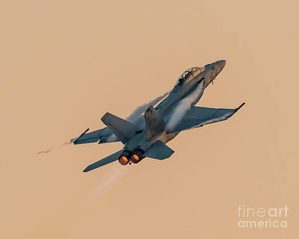 Vape Photograph - Super Hornet Vapes And Afterburner In Abby Twilight by Joe Kunzler