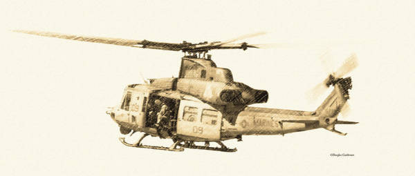 Digital Art - Super Huey by Douglas Castleman