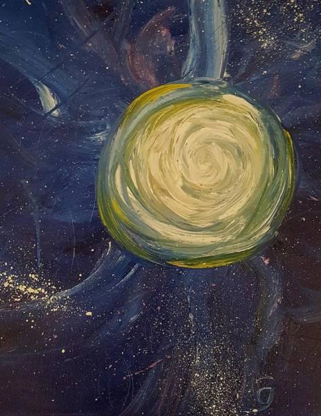 Painting -  Super Moon 2016     103 by Cheryl Nancy Ann Gordon