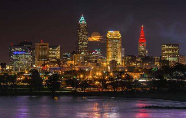 Wall Art - Photograph - Super Moon 2016 Over Cleveland by Richard Kopchock