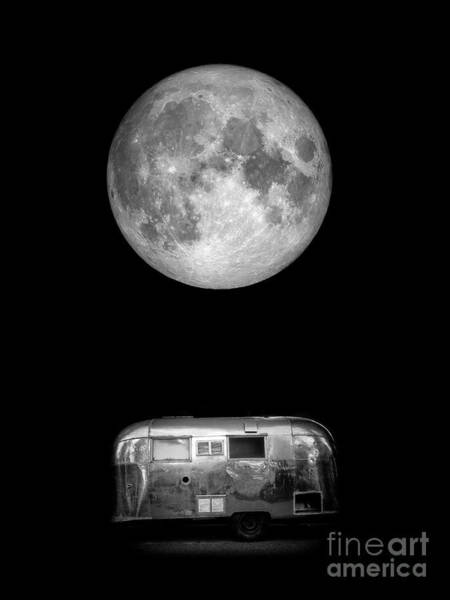 Wall Art - Photograph - Super Moon Airstream 3 4 by Edward Fielding
