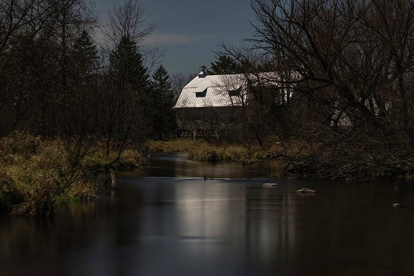 Photograph - Super Moon And The Rose Barn 2016-2 by Thomas Young