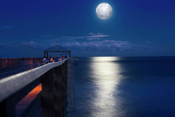 Wall Art - Photograph - Super Moon At Juno by Laura Fasulo