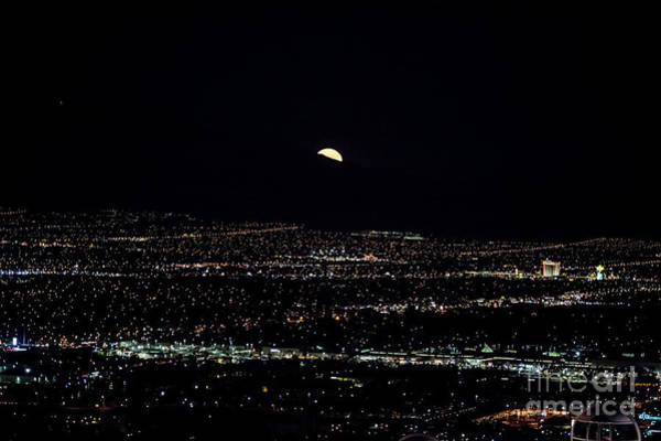 Wall Art - Photograph - Super Moon In Las Vegas by Sv