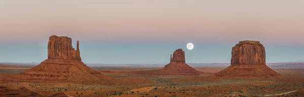 Photograph - Super Moon In Monument Valley by Jon Glaser