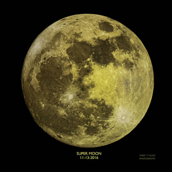 Photograph - Super Moon by Mark Allen