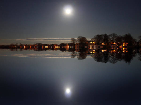 Wall Art - Photograph - super moon night   Connecticut  by Mark Ashkenazi