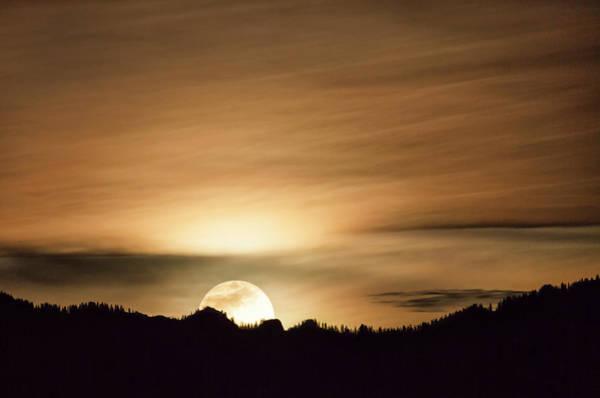 Photograph - Super Moon Over Cimarron Ridge by Denise Bush