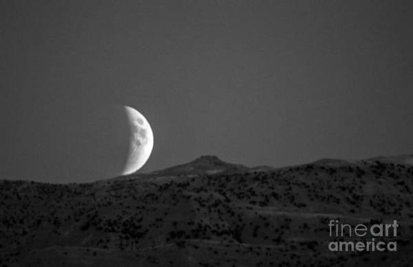 Perigee Moon Photograph - Super Moon Rise Eclipse by Robert Bales