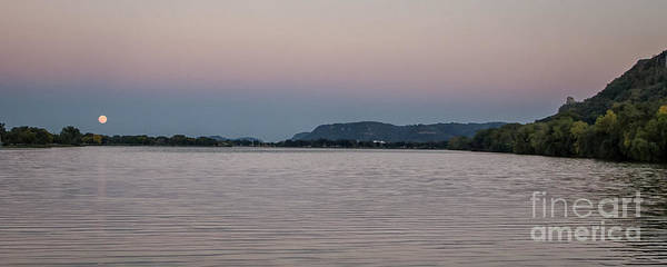 Photograph - Super Moon-rise With Sugarloaf Winona by Kari Yearous