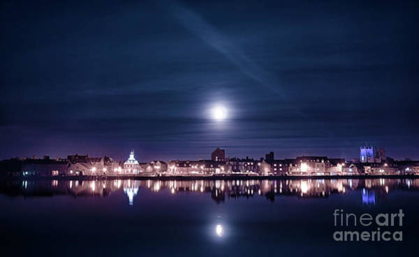 Kings Lynn Wall Art - Photograph - Super Moon Rising Over Blue Kings Lynn by Simon Bratt Photography LRPS
