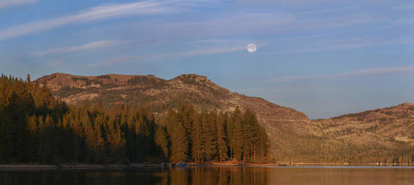 Donner Photograph - Super Moon Setting- Donner Lake by Jeremy Jensen
