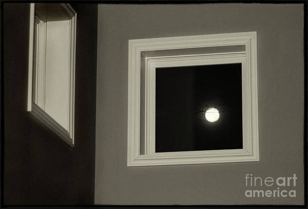 Photograph - Super Moon Through A Window by Karen Adams