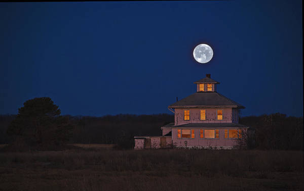 Photograph - Super Moonset At Sunrise March 2011 by Rick Mosher