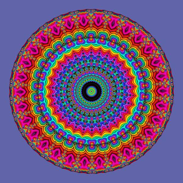 Digital Art - Super Rainbow Mandala by Ruth Moratz