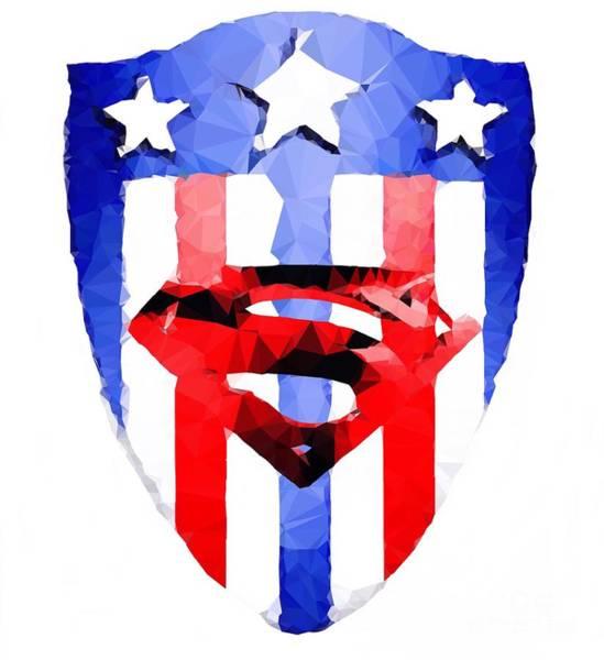 Digital Art - Super Shield by Helge