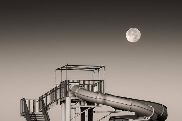 Super Moon Photograph - Super Slider Moon by Don Spenner
