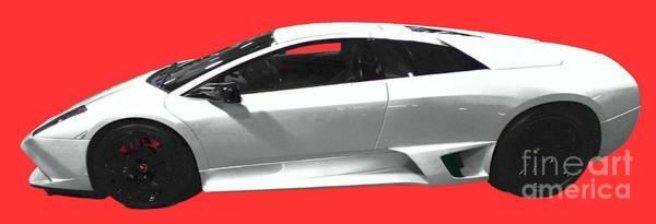 Supercar In White Art Art Print