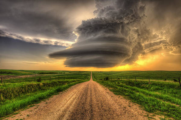Nebraska Photograph - Supercell Highway - Arcadia Nebraska by Douglas Berry