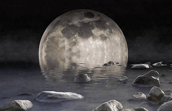 Digital Art - Superfluous Moon by Susan Maxwell Schmidt