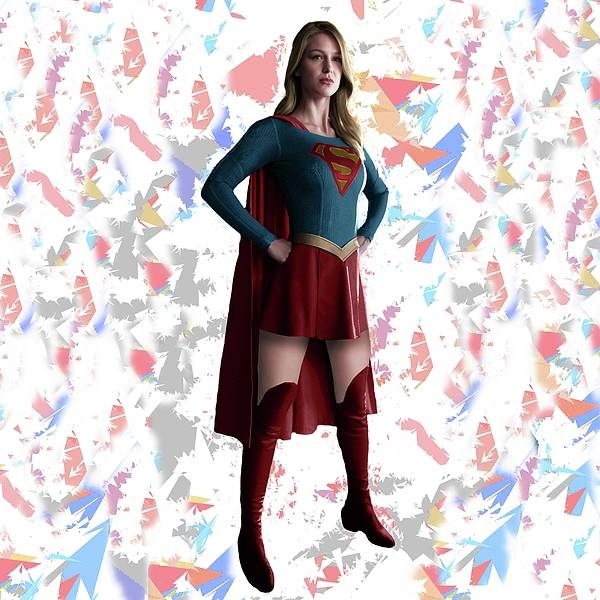Mixed Media - Supergirl Splash Super Hero Series by Movie Poster Prints