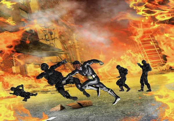 Empyreal Digital Art - Superhero Tko by Rick Todd