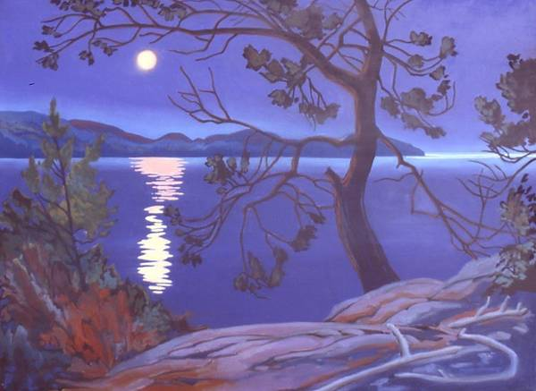Wall Art - Painting - Superior Moonlight by Paul Gauthier