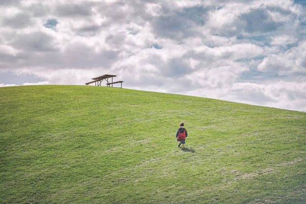 Young Boy Photograph - Superman And The Big Hill by Scott Norris