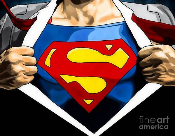 Super Hero Mixed Media - Superman Collection by Marvin Blaine