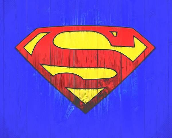 Digital Art - Superman Graphic Door by Dan Sproul