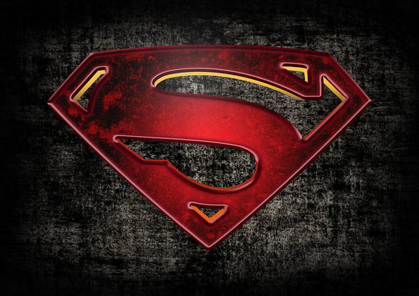 Superman Logo Digital Artwork Art Print