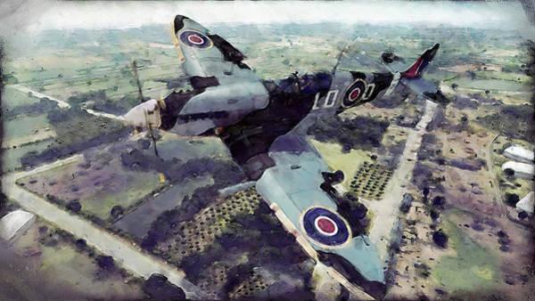 Painting - Supermarine Spitfire - 06 by Andrea Mazzocchetti