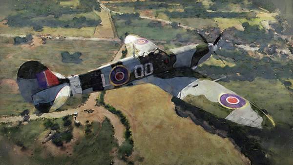 Painting - Supermarine Spitfire - 07 by Andrea Mazzocchetti
