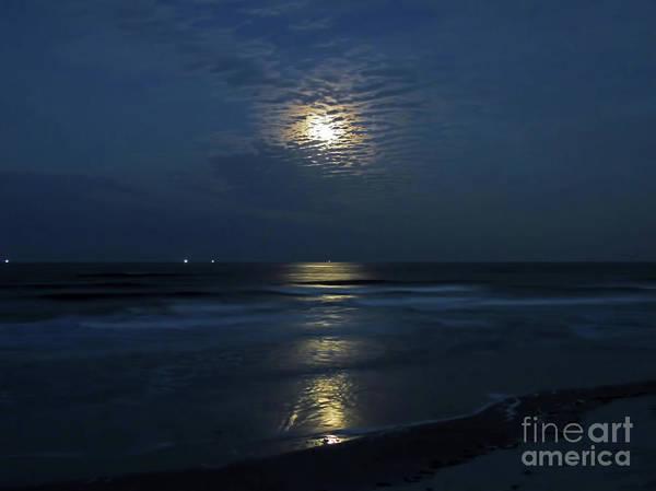 Photograph - Supermoon At The Beach by D Hackett
