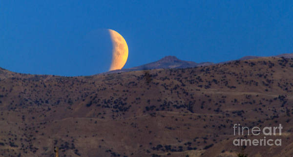 Perigee Moon Photograph - Supermoon Eclipse by Robert Bales