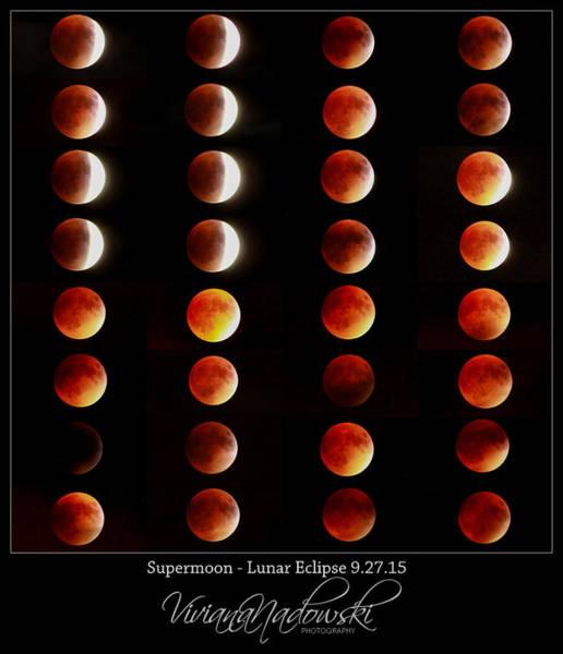 Photograph - Supermoon Lunar Eclipse by Viviana  Nadowski