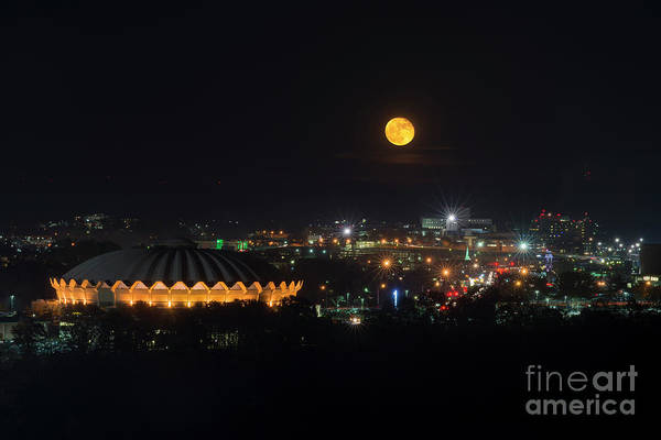 Photograph - Supermoon Over Morgantown On Evansdale Campus by Dan Friend