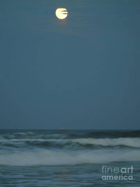 Photograph - Supermoon Over The Atlantic by D Hackett
