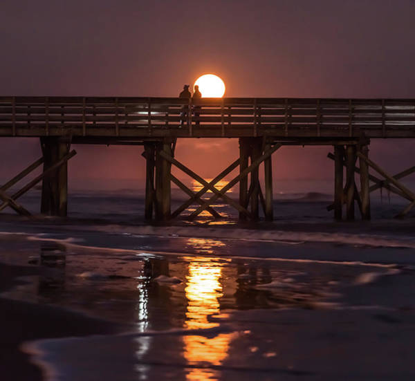 Photograph - Supermoon Over The Isle Of Palms, Sc by Donnie Whitaker