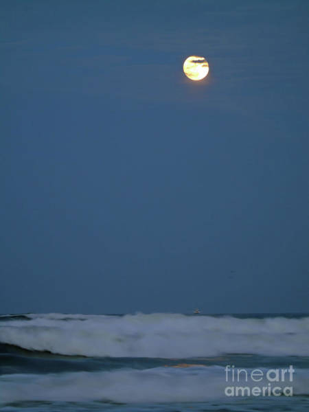 Photograph - Supermoon Over The Surf by D Hackett