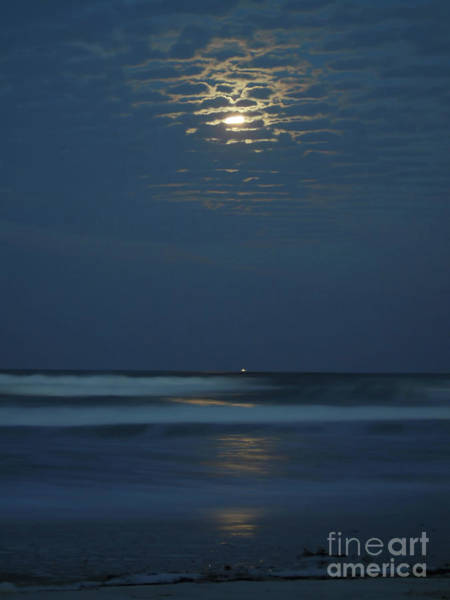 Photograph - Supermoon Shrimp Boat And The Surf by D Hackett