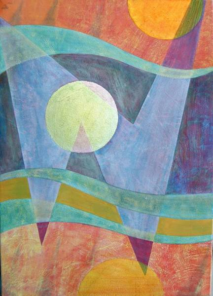 Quantum Physics Painting - Superposition II by Jennifer Baird