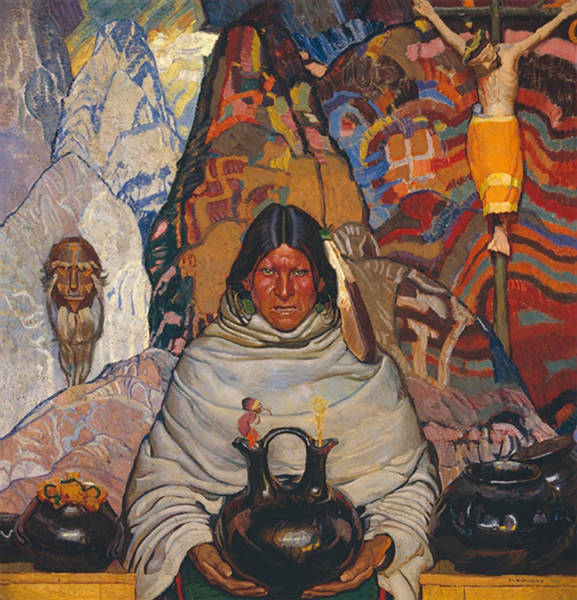 Native American Blanket Painting - Superstition by Mountain Dreams