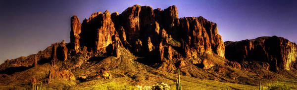 Photograph - Superstition Mountain Panorama At Sunset by Roger Passman