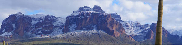 Photograph - Superstition Mountain Snowfall by Broderick Delaney