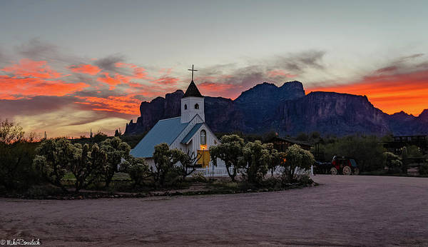Photograph - Superstition Sunrise II by Mike Ronnebeck