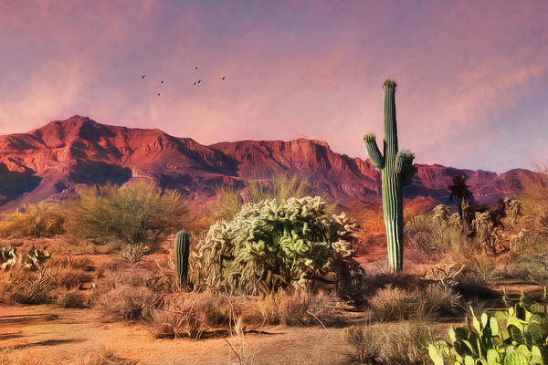 Superstition Mountains Photograph - Superstition Sunset by Lori Deiter