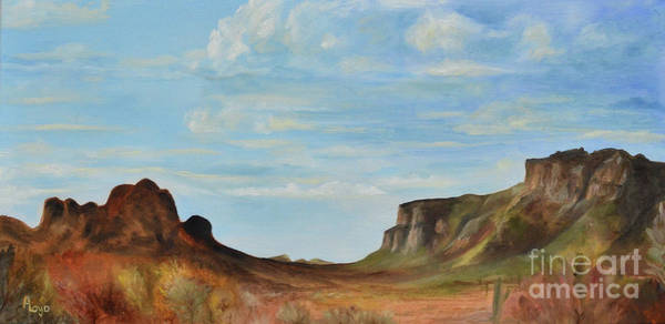 Wall Art - Painting - Superstition Mountain Valley by Ann Loyd