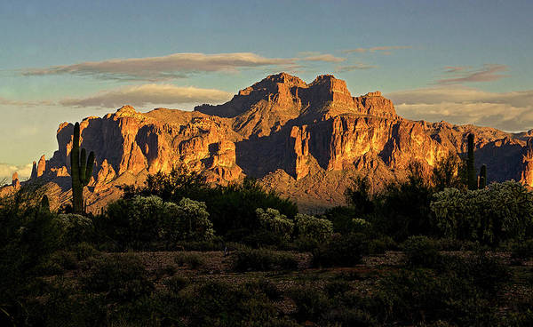 Superstitions At Sunset  Art Print